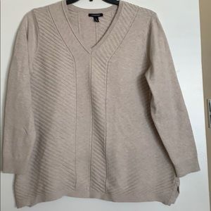 EUC! Lands End textured V-Neck Sweater 1X